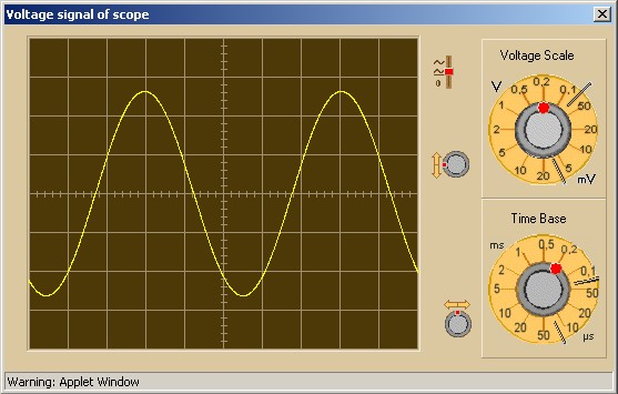 up the oscilloscope window